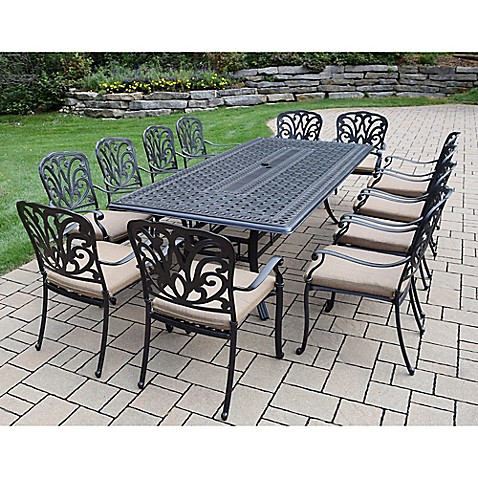 Oakland Living Clairmont 13 Piece Outdoor Dining Set Bed