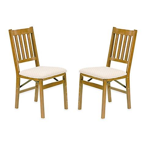 stakmore arts crafts wood folding chairs set of 2 bed bath beyond. Black Bedroom Furniture Sets. Home Design Ideas