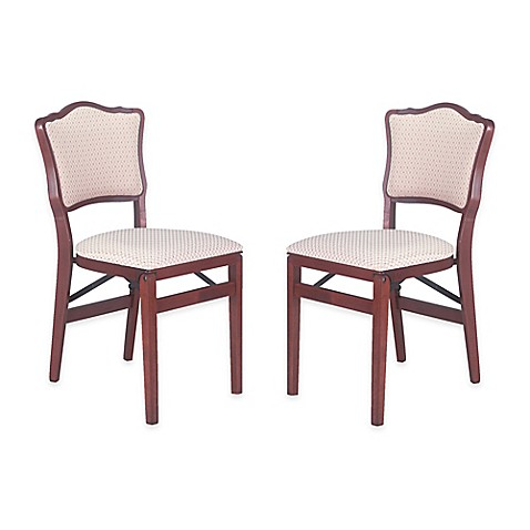 stakmore padded back wood folding chairs set of 2