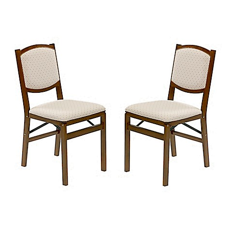 Stakmore Contemporary Wood Folding Chairs In Fruitwood
