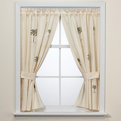 Croscill 174 Port Of Call Bath Window Curtain Pair Bed Bath