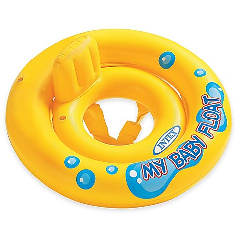 Intex 174 My Baby Float With Pillow Backrest In Yellow