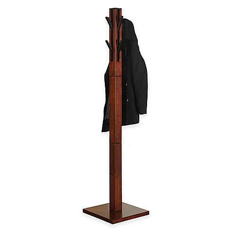 Kingston Coat Rack In Walnut Bed Bath Amp Beyond