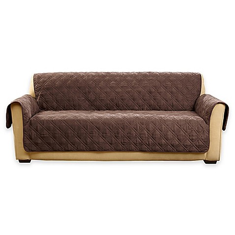 buy sure fit deluxe non skid waterproof sofa cover in