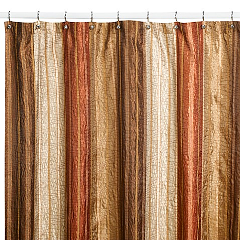 Buy Manor Hill Sierra Copper 72 Inch X 84 Inch Fabric Shower Curtain From Bed Bath Beyond