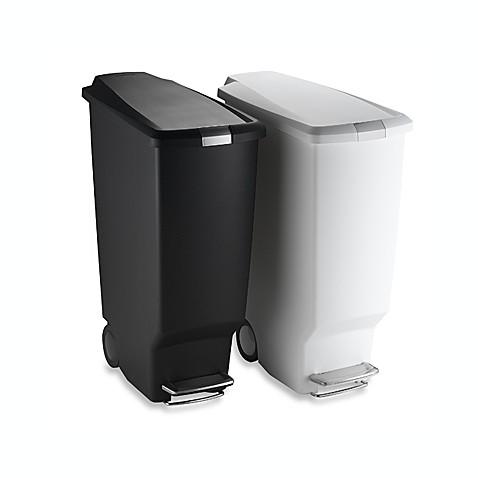 Simplehuman 174 Slim Plastic 40 Liter Step On Trash Can Bed