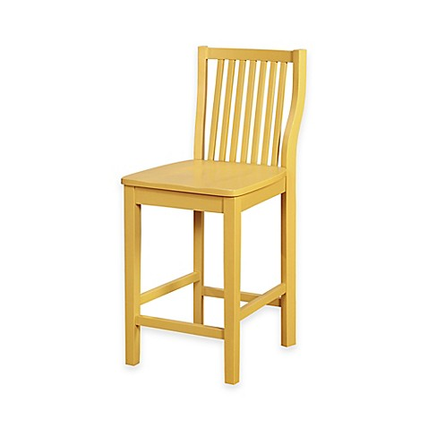 Buy Denville 24 Inch Counter Stool In Yellow From Bed Bath
