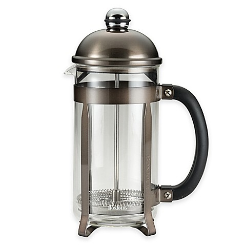 buy bonjour 59935 8 cup maximus french press in graphite from bed bath beyond. Black Bedroom Furniture Sets. Home Design Ideas