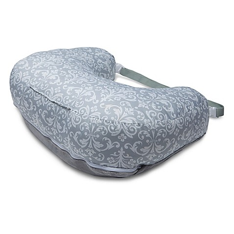 Boppy 174 2 Sided Breastfeeding Pillow In Kensington Grey