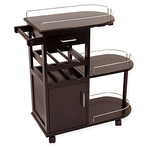 Buy Espresso Wine Entertainment Cart From Bed Bath Amp Beyond