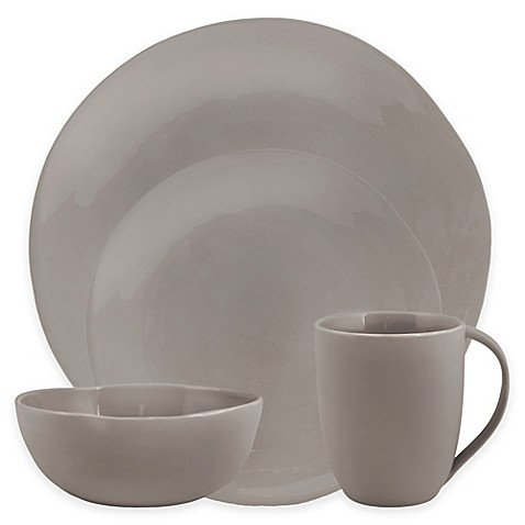 Artisanal Kitchen Supply® Curve Dinnerware Collection in Grey at Bed Bath & Beyond in Cypress, TX | Tuggl