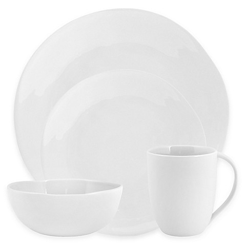 Artisanal Kitchen Supply® Curve Dinnerware Collection in White at Bed Bath & Beyond in Cypress, TX | Tuggl