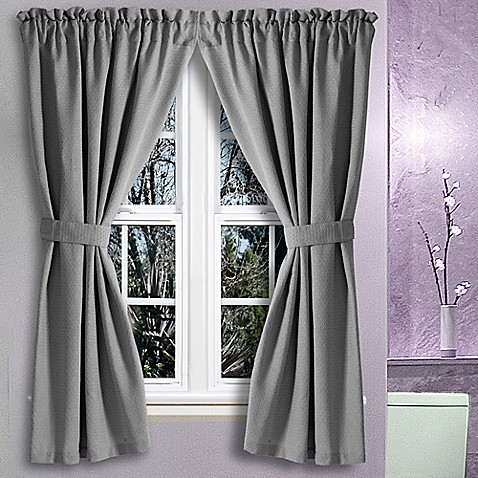 Avalon 36 Inch X 45 Inch Bath Window Curtain Pair Bed