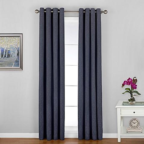 Regal Home Woodgrain Grommet Window Curtain Panel - Bed Bath & Beyond
