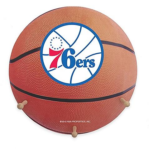 Nba Philadelphia 76ers Team Logo Basketball Coat Rack