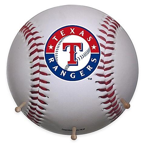 Mlb Texas Rangers Team Logo Baseball Coat Rack Bed Bath
