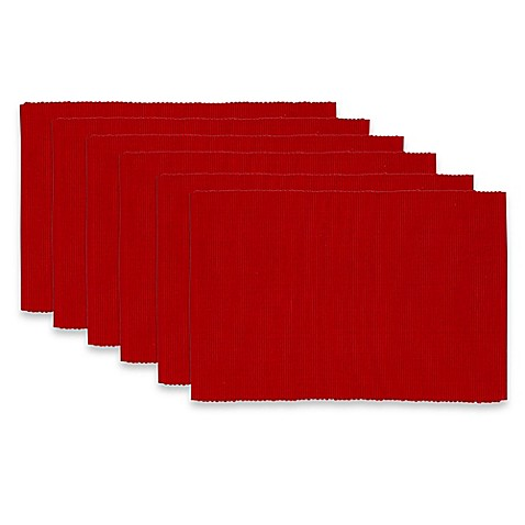 Ribbed Placemats In Red Cedar Set Of 6 Bed Bath Amp Beyond