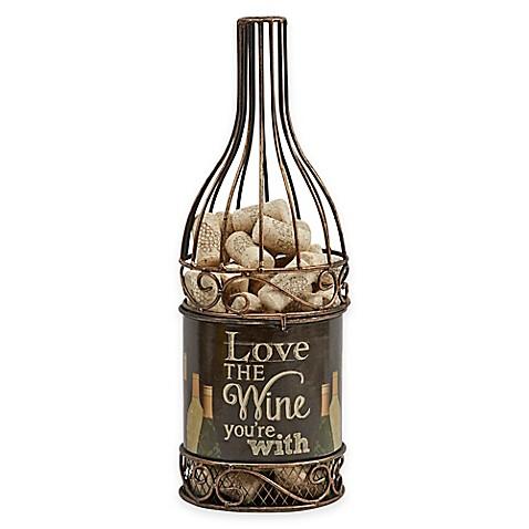 Metal Wine Bottle Cork Holder Bed Bath Amp Beyond