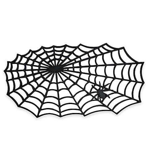 Halloween Spider Web 19 5 Inch X 34 5 Inch Rubber Door Mat