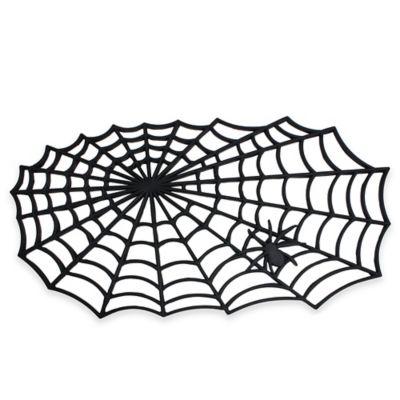 Halloween outdoor spider door mat