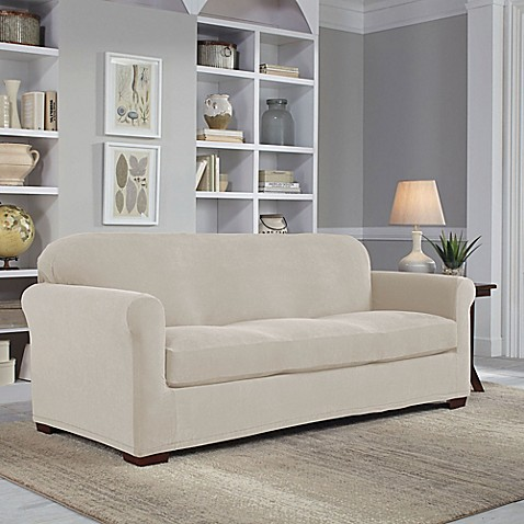 Perfect Fit 174 Easy Fit 2 Piece Sofa Slipcover Bed Bath