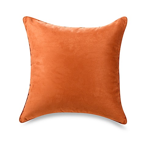 20 Inch Square Decorative Pillows : Suede 20-Inch Square Throw Pillow - Bed Bath & Beyond