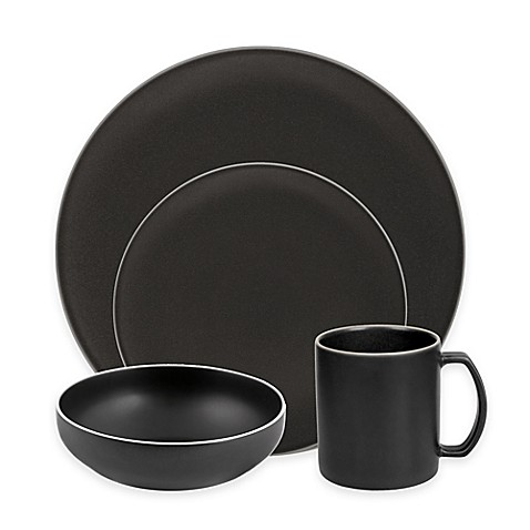 Artisanal Kitchen Supply® Edge Dinnerware Collection in Graphite at Bed Bath & Beyond in Cypress, TX   Tuggl