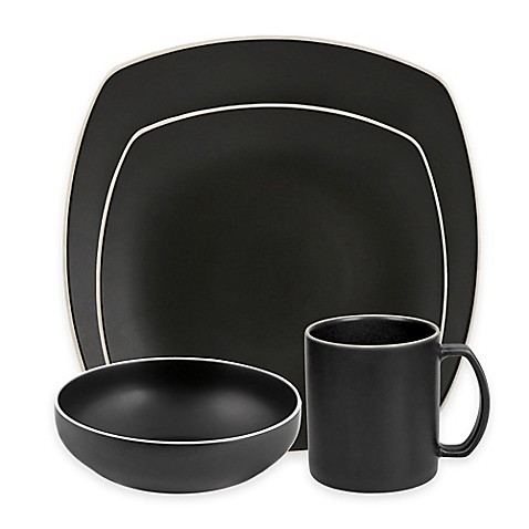 Artisanal Kitchen Supply® Edge Square Dinnerware Collection in Graphite at Bed Bath & Beyond in Cypress, TX   Tuggl