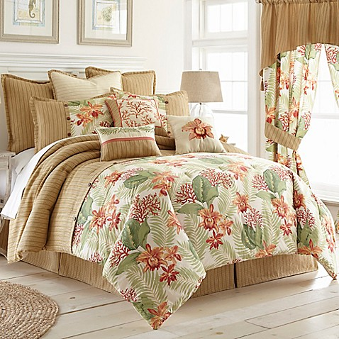 Coral beach comforter set bed bath beyond - Bed bath and beyond bedroom furniture ...