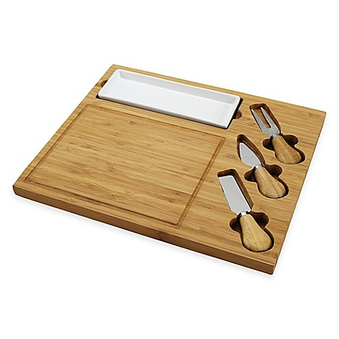 Picnic At Ascot Celtic 4 Piece Bamboo Cheese Board Set