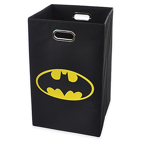 Modern littles batman folding laundry bin in black bed bath beyond - Batman laundry hamper ...