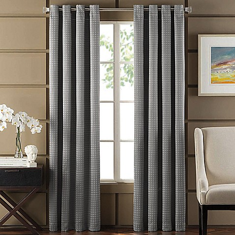 Newton room darkening grommet top window curtain panel Bed bath and beyond curtains for living room