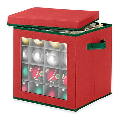 64 Count Ornament Storage Cube In Red Bed Bath Amp Beyond
