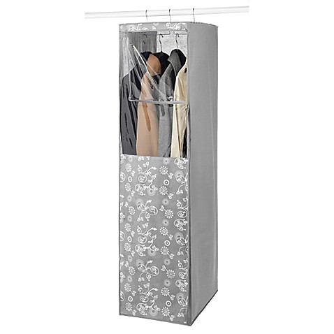 hanging garment closet in grey bed bath beyond