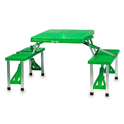 Picnic time folding picnic table with seats bed bath for Regulation 85 table a