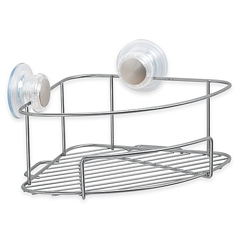 Interdesign Turn N Lock Corner Suction Basket Bed Bath