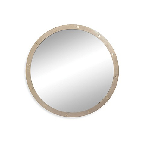 Buy Ren Wil 36 Inch Hudson Round Mirror In Gold From Bed