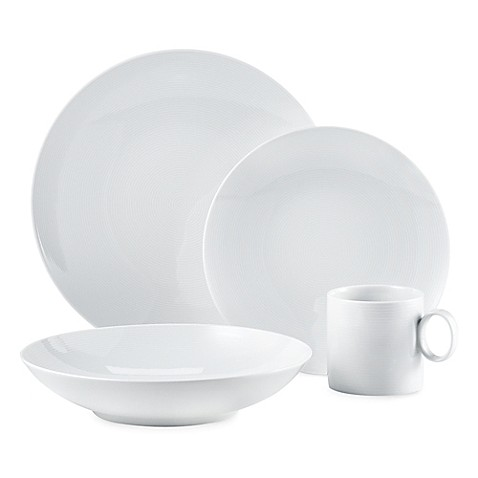 rosenthal thomas loft dinnerware in white bed bath beyond. Black Bedroom Furniture Sets. Home Design Ideas