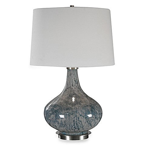 Uttermost Celinda Glass Lamp in Blue/Grey at Bed Bath & Beyond in Cypress, TX | Tuggl