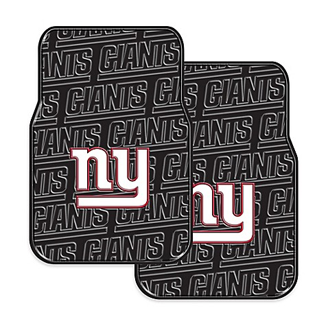 Nfl New York Giants Rubber Car Mats Set Of 2 Bed Bath