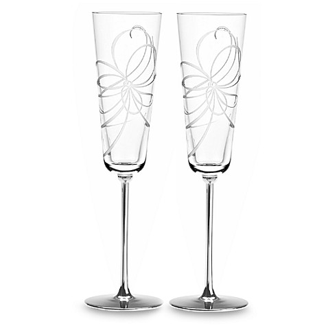 kate spade new york Belle Boulevard Metal Toasting Flutes