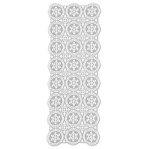 Buy heritage lace yuletide 52 inch table runner in white for Table runners 52 inches