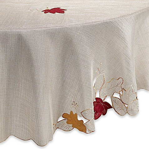 Buy Sam Hedaya Fall Foliage 70 Inch Round Tablecloth From