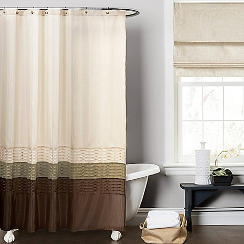 Buy Mia Green And Brown 72 Inch X 72 Inch Shower Curtain