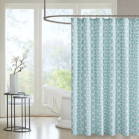 Madison Park Pure Alexa Aqua Shower Curtain Bed Bath