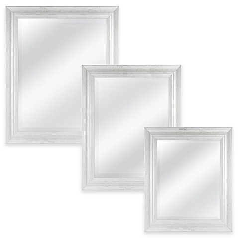 Normandy Rectangular Mirror in White Wash Bed Bath & Beyond