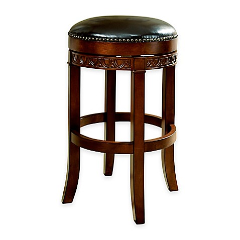 American Heritage Portofino Backless Stool In Brown Bed