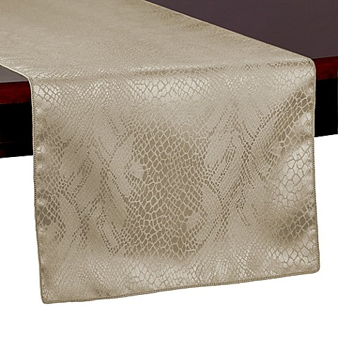Buy kenya 108 inch table runner in natural from bed bath for 108 inch table runners