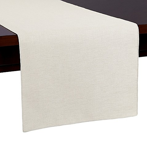 buy havana 54 inch table runner in white from bed bath
