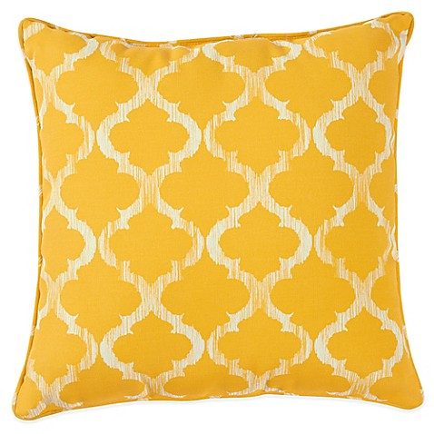 Yellow Decorative Pillows For Bed : Enhance Outdoor 17-Inch Throw Pillow in Yellow - Bed Bath & Beyond